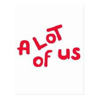 A lot of us postcard