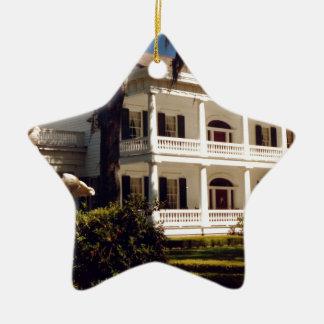 A Louisiana Plantation Ceramic Star Ornament