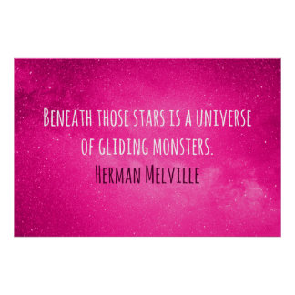 A lovely Herman Melville quote for your wall Poster