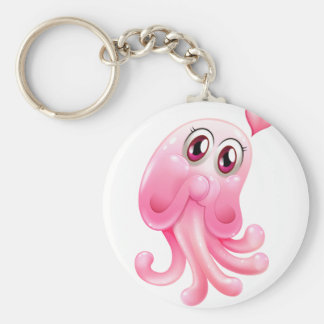 A lovely octopus monster keychain