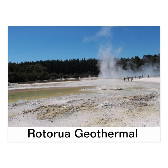 A lovely postcard of the Rotorua Geothermal area