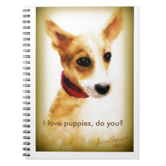 A lovely puppy notebook! notebooks