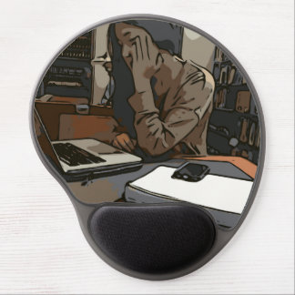A Lovely Study Library Woman Gel Mouse Pad