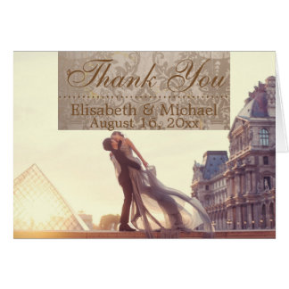 A lover couple in front of Louvre/Thank You Card