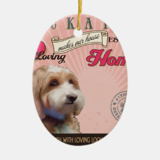 A Loving Cockapoo Makes Our House Home Ceramic Oval Ornament