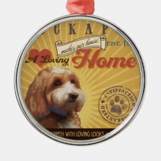 A Loving Cockapoo Makes Our House Home Silver-Colored Round Ornament