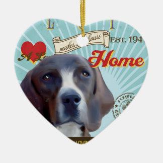 A Loving Plott Makes Our House Home Ceramic Heart Ornament