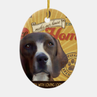 A Loving Plott Makes Our House Home Ceramic Oval Ornament
