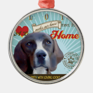 A Loving Plott Makes Our House Home Silver-Colored Round Ornament