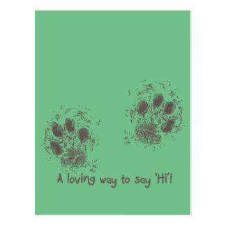 A loving way tons say 'Hi' Postcard