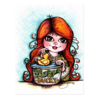 A Lucky Ducky! Postcard