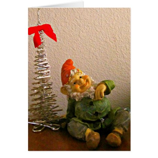 A Lucky Gnome for Christmas! Card