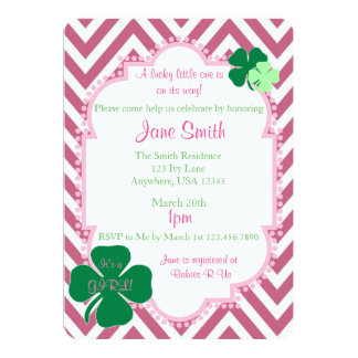 A Lucky Little One Irish themed Baby Shower Invite