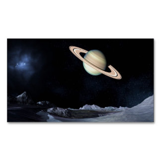 A LUNAR VIEW (saturn outer space) ~.jpg Magnetic Business Card