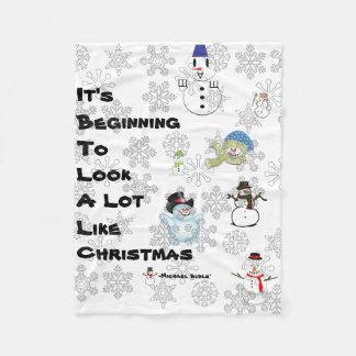 A Lyrical Christmas Fleece Blanket