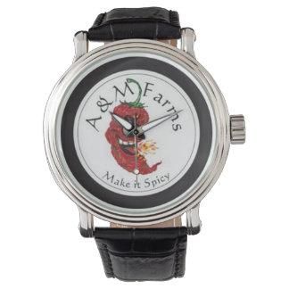 A&M Farms Custom Black Vintage Leather Watch