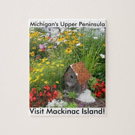 A Mackinac Island Flower Garden Jigsaw Puzzle