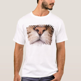 A macro image of a cat's nose and mouth. T-Shirt