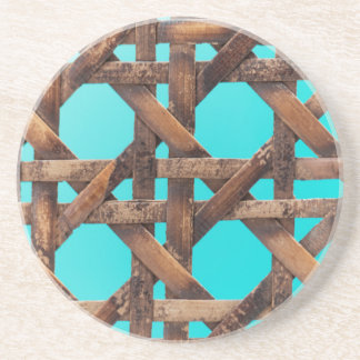A macro photo of old wooden basketwork. beverage coaster