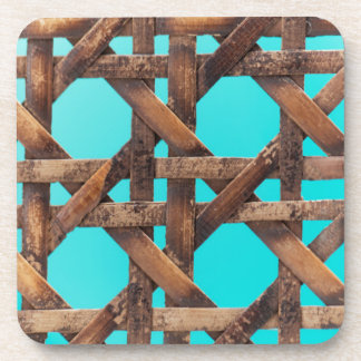 A macro photo of old wooden basketwork. coasters