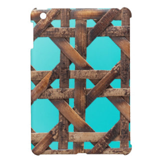 A macro photo of old wooden basketwork. iPad mini cover
