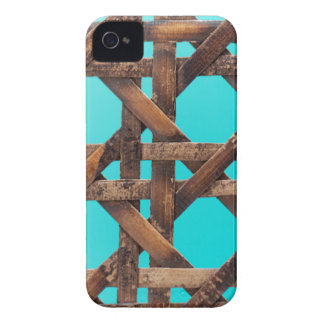 A macro photo of old wooden basketwork. iPhone 4 cover