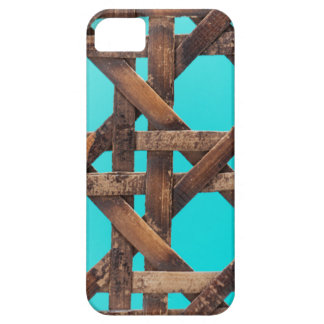 A macro photo of old wooden basketwork. iPhone 5 cover