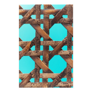 A macro photo of old wooden basketwork. stationery