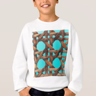A macro photo of old wooden basketwork. sweatshirt