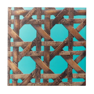 A macro photo of old wooden basketwork. tile