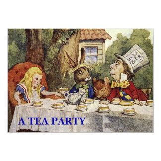 """A Mad Tea Party INVITE 5"""" X 7"""" Invitation Card"""