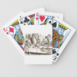 A Mad Tea Party Tenniel Sepia Bicycle Playing Cards