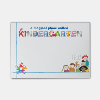 A Magical Place Called Kindergarten Post-it Notes