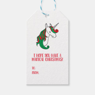 A Magical Unicorn Christmas Pack Of Gift Tags