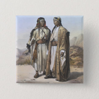 A Mahazi and a Soualeh Bedouin, illustration from 2 Inch Square Button