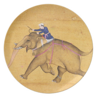 A Mahout riding an Elephant, from the Large Clive Dinner Plates
