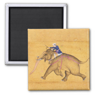 A Mahout riding an Elephant, from the Large Clive Magnet