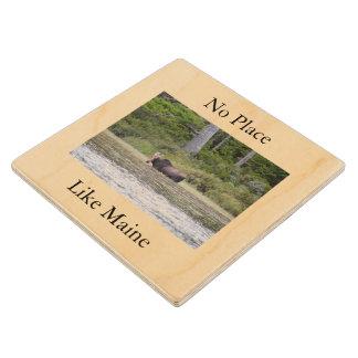 A Maine Coaster Wood Coaster