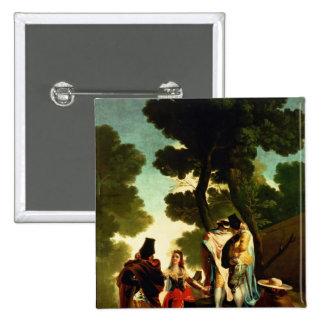 A Maja and Gallants, 1777 2 Inch Square Button