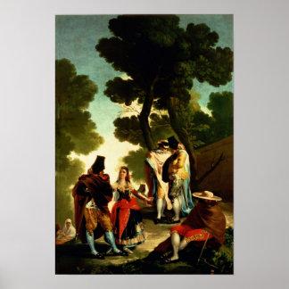 A Maja and Gallants, 1777 Poster