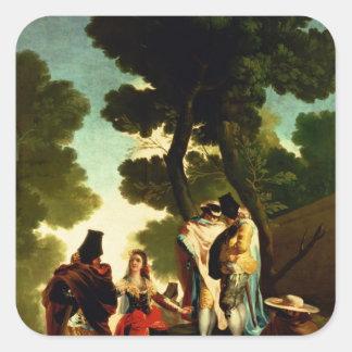 A Maja and Gallants 1777 Square Stickers