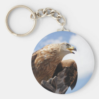 A majestic golden eagle basic round button keychain