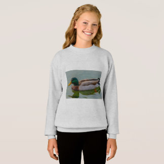 a male of   mallards on  Girls'  Blend® Sweatshirt