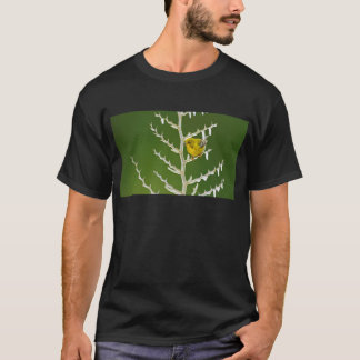 A Male Pine Warbler Perched on an Icy Branch T-Shirt