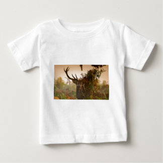 A Male Red Deer Blends in London's Richmond Park. Baby T-Shirt