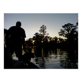 A man and his dog on the Bayou Poster