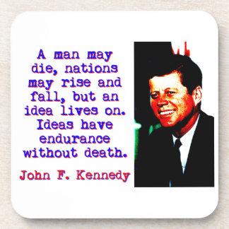 A Man May Die - John Kennedy Drink Coaster