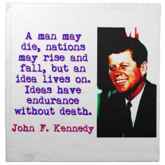 A Man May Die - John Kennedy Napkin