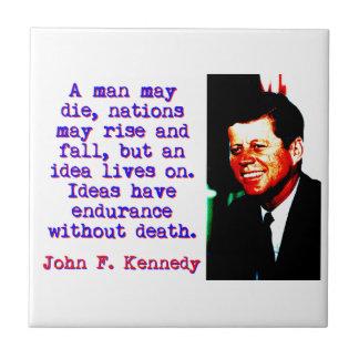 A Man May Die - John Kennedy Tile