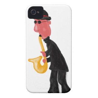 A man playing saxophone iPhone 4 case